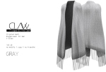 C L A Vv. Fringed Knitted Cape Gray