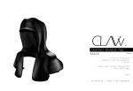 C L A Vv. Leather Hoodie Cap Black
