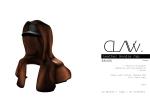 C L A Vv. Leather Hoodie Cap Brown